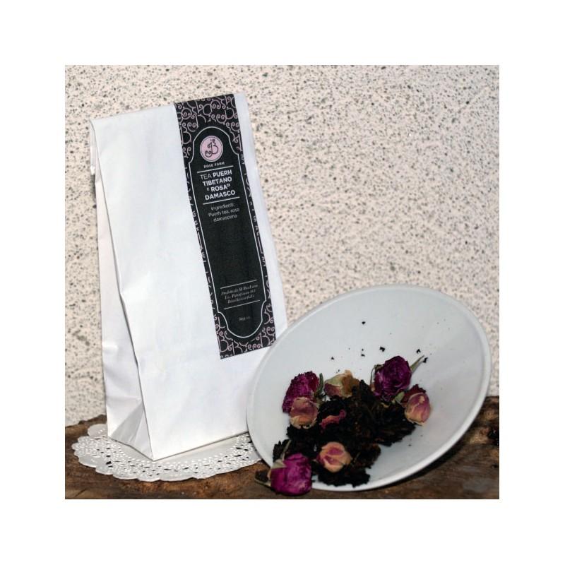 Tea Puerth Tibetano e Boccioli di Rosa Damascena 40g